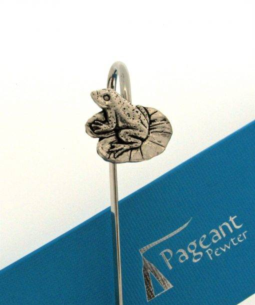 Frog Bookmark - high quality pewter gifts from Pageant Pewter