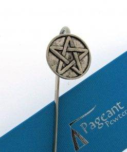 Pentangle Bookmark - high quality pewter gifts from Pageant Pewter