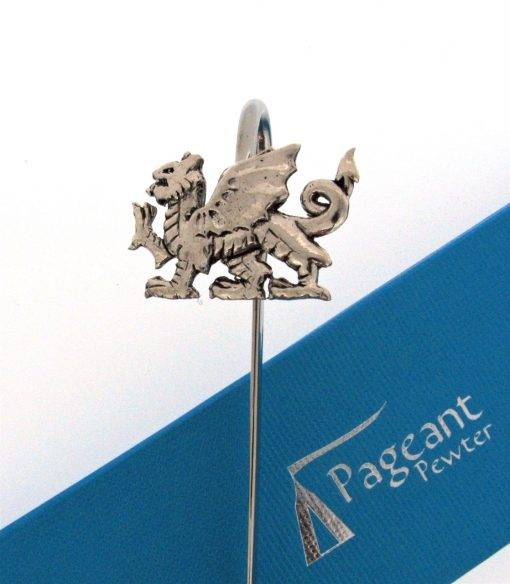 Welsh Dragon Bookmark - high quality pewter gifts from Pageant Pewter