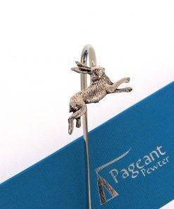 Hare Bookmark - high quality pewter gifts from Pageant Pewter