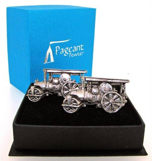 Steamroller Cufflinks - high quality pewter gifts from Pageant Pewter