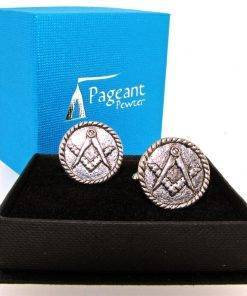 Masonic Cufflinks - high quality pewter gifts from Pageant Pewter