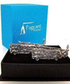Fire Engine Cufflinks - high quality pewter gifts from Pageant Pewter