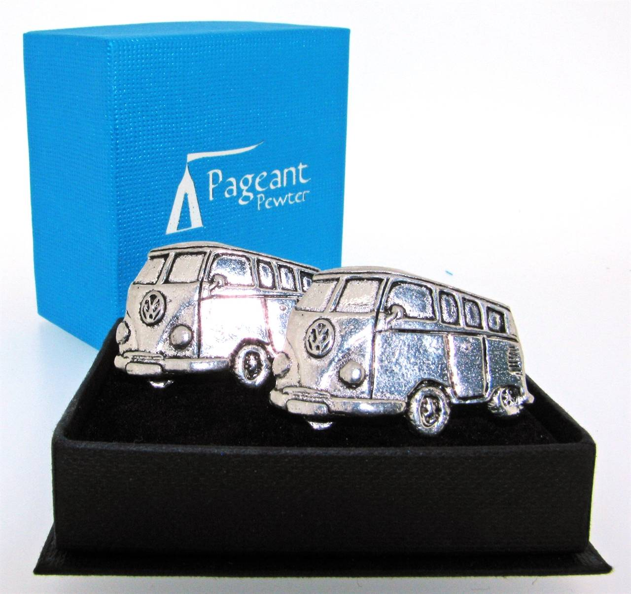 Camper Cufflinks - high quality pewter gifts from Pageant Pewter