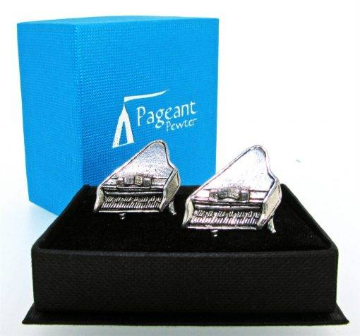 Piano Cufflinks - high quality pewter gifts from Pageant Pewter