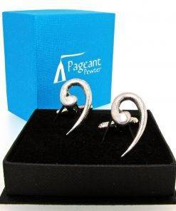 Bass Clef Cufflinks - high quality pewter gifts from Pageant Pewter