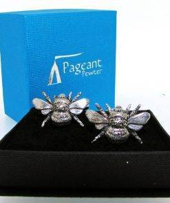 Bee Cufflinks - high quality pewter gifts from Pageant Pewter