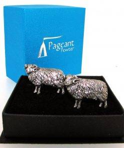 Sheep Cufflinks - high quality pewter gifts from Pageant Pewter