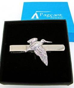 Woodcock Tie Clip - high quality pewter gifts from Pageant Pewter