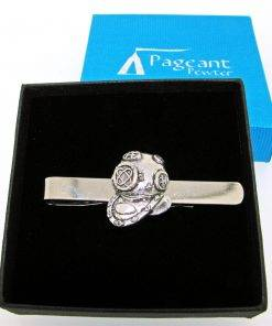 Diving Helmet Tie Clip - high quality pewter gifts from Pageant Pewter
