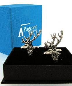 Stag Head Cufflinks - high quality pewter gifts from Pageant Pewter