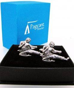 Karate Cufflinks - high quality pewter gifts from Pageant Pewter