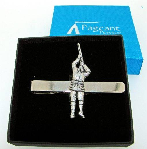 Shooter Tie Clip - high quality pewter gifts from Pageant Pewter