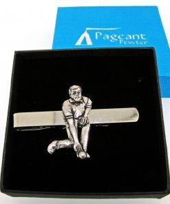 Bowls Player Tie Clip - high quality pewter gifts from Pageant Pewter