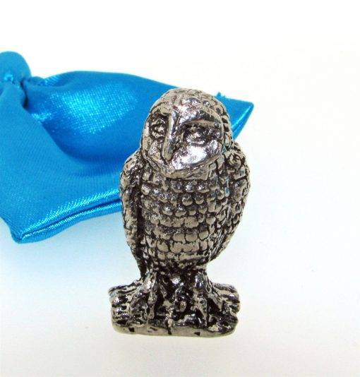 Owl Miniature - high quality pewter gifts from Pageant Pewter