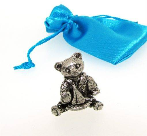 Boy Teddy Miniature - high quality pewter gifts from Pageant Pewter