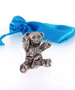 Baby Teddy Miniature - high quality pewter gifts from Pageant Pewter