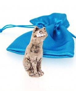 Sitting Cat Miniature - high quality pewter gifts from Pageant Pewter