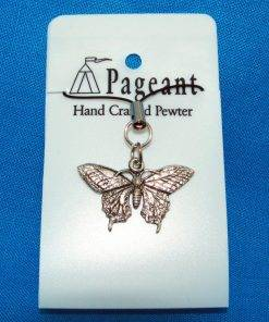 Butterfly Phone / Bag Charm - high quality pewter gifts from Pageant Pewter