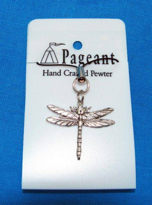 Dragonfly Phone / Bag Charm - high quality pewter gifts from Pageant Pewter