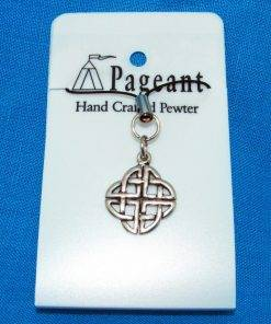 Celtic Knot Phone / Bag Charm - high quality pewter gifts from Pageant Pewter