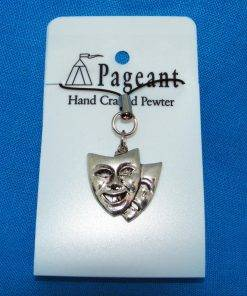 Theatrical Masks Phone Charm - high quality pewter gifts from Pageant Pewter