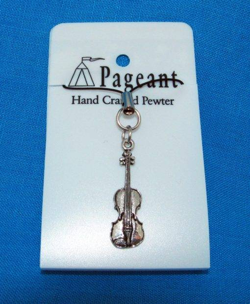 Violin Phone / Bag Charm - high quality pewter gifts from Pageant Pewter
