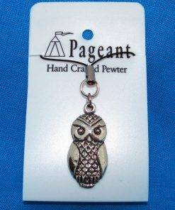 Owl Phone / Bag Charm - high quality pewter gifts from Pageant Pewter
