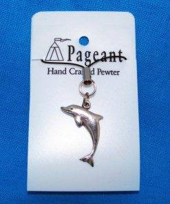 Dolphin Phone / Bag Charm - high quality pewter gifts from Pageant Pewter