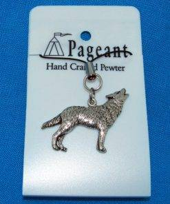Wolf Phone / Bag Charm - high quality pewter gifts from Pageant Pewter