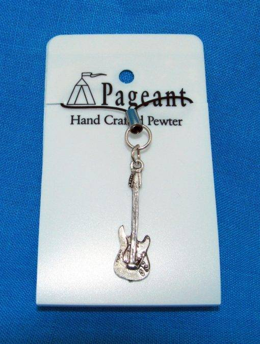 Electric Guitar Phone / Bag Charm - high quality pewter gifts from Pageant Pewter