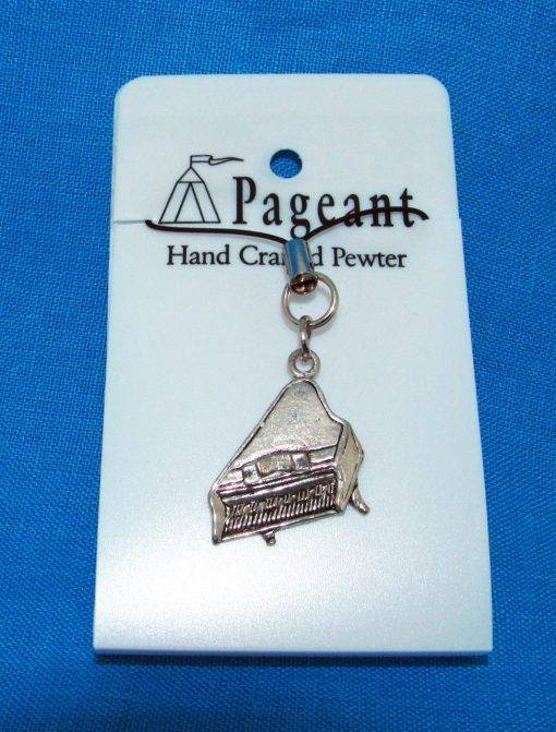 Piano Phone / Bag Charm - high quality pewter gifts from Pageant Pewter