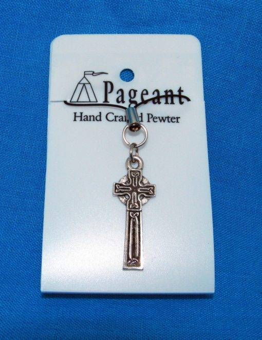 Celtic Cross Phone / Bag Charm - high quality pewter gifts from Pageant Pewter