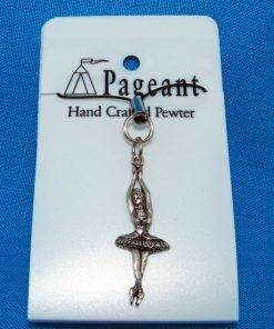 Ballerina Phone / Bag Charm - high quality pewter gifts from Pageant Pewter