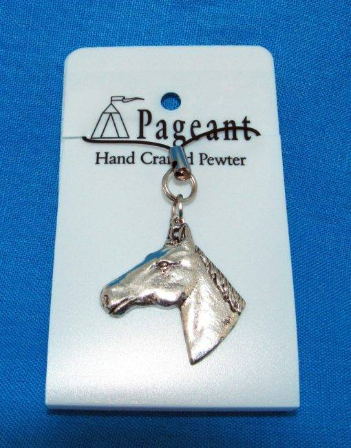 Horse Head Phone / Bag Charm - high quality pewter gifts from Pageant Pewter