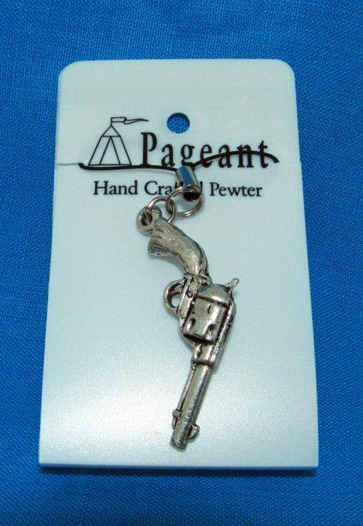 Pistol Phone / Bag Charm - high quality pewter gifts from Pageant Pewter