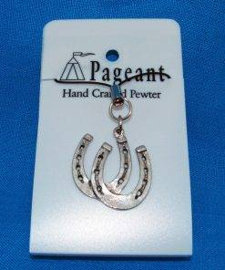 Horseshoes Phone / Bag Charm - high quality pewter gifts from Pageant Pewter