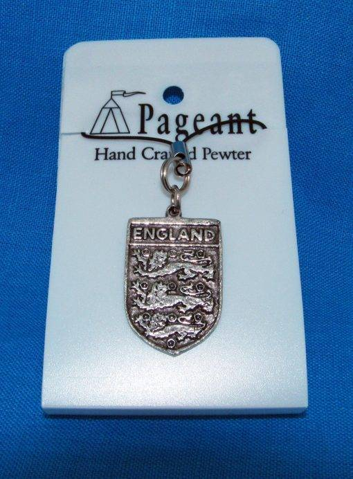 Three Lions Phone / Bag Charm - high quality pewter gifts from Pageant Pewter