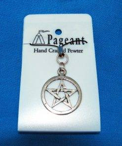 Pentangle Phone / Bag Charm - high quality pewter gifts from Pageant Pewter