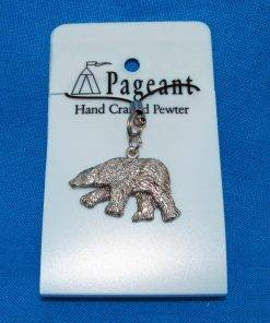 Polar Bear Phone / Bag Charm - high quality pewter gifts from Pageant Pewter