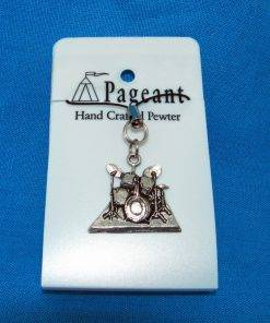 Drums Phone / Bag Charm - high quality pewter gifts from Pageant Pewter