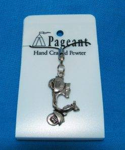 Scooter V Phone / Bag Charm - high quality pewter gifts from Pageant Pewter