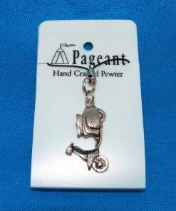 Scooter L Phone / Bag Charm - high quality pewter gifts from Pageant Pewter