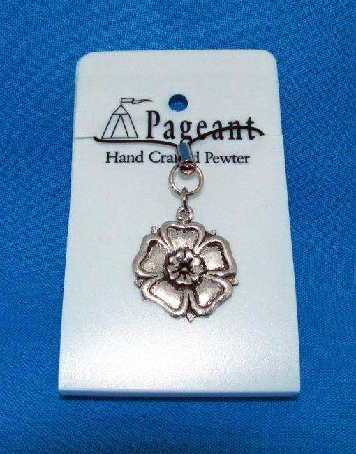 Yorkshire Rose Phone / Bag Charm - high quality pewter gifts from Pageant Pewter