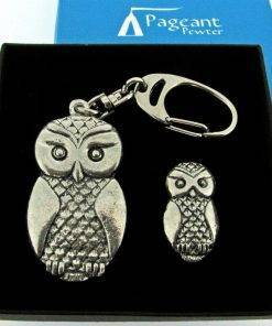 Owl Keyring Gift Set - high quality pewter gifts from Pageant Pewter