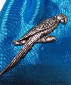 Parrot Pin Badge - high quality pewter gifts from Pageant Pewter