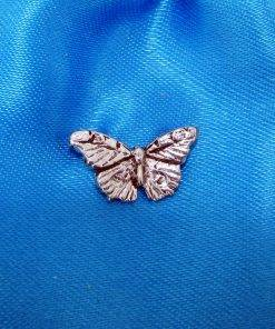 Small Butterfly Pin Badge - high quality pewter gifts from Pageant Pewter
