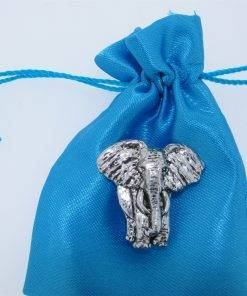 Elephant Pin Badge - high quality pewter gifts from Pageant Pewter