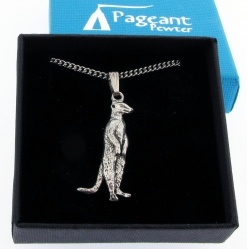 Meerkat Pendant - high quality pewter gifts from Pageant Pewter