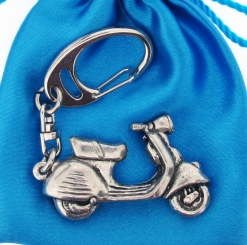 Scooter V Keyring - high quality pewter gifts from Pageant Pewter